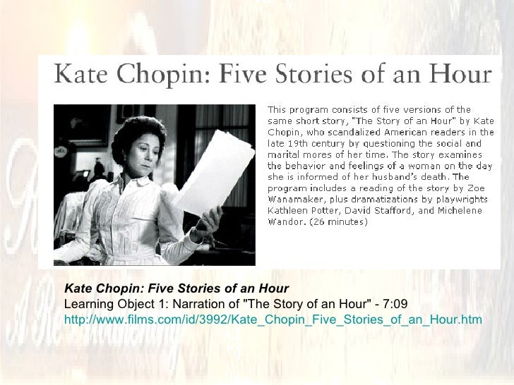 "story of an hour joy that kills Speed that kills: the role of technology in kate chopin's  the role of technology in kate chopin's ""the story of  ""the story of an hour"" has long."