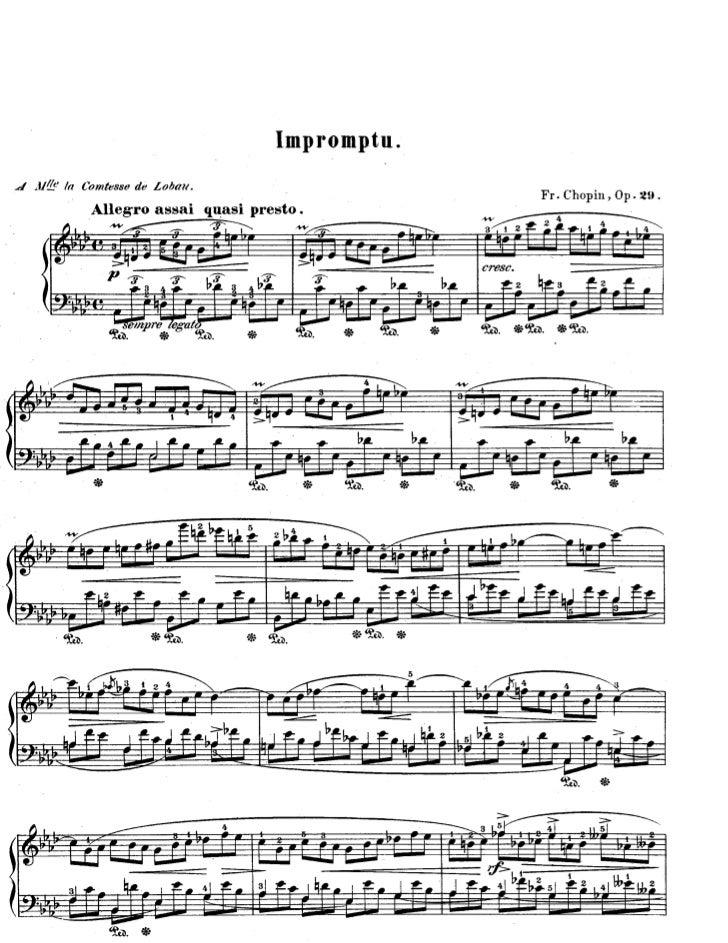 Chopin interrompu opus 29