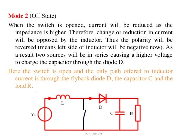 Mode 2 (Off State)When the switch is opened, current will be reduced as theimpedance is higher. Therefore, change or reduc...
