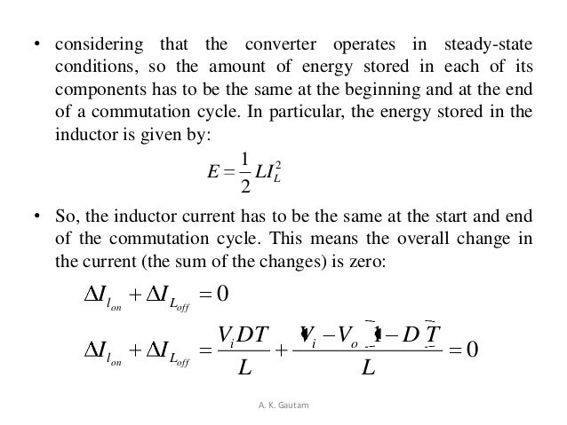 • considering that the converter operates in steady-stateconditions, so the amount of energy stored in each of itscomponen...