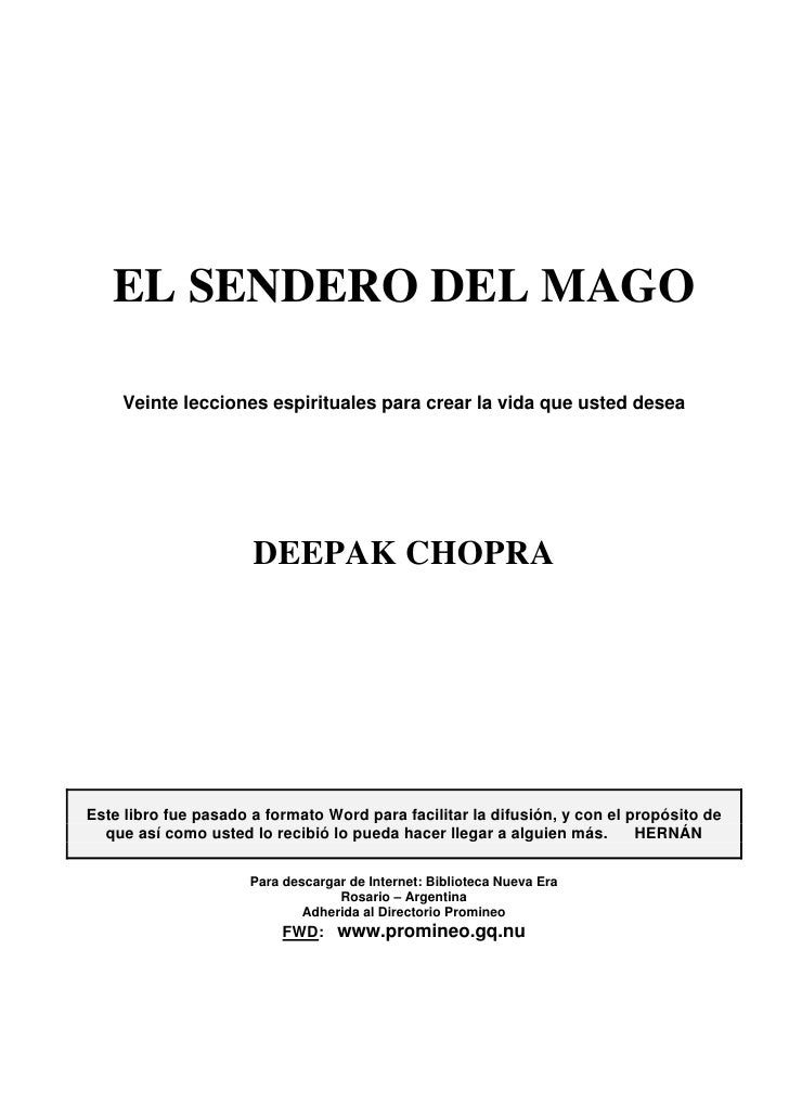 Chopra Deepak El Sendero Del Mago