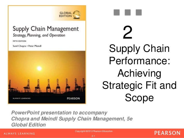 2  PowerPoint presentation to accompany  Chopra and Meindl Supply Chain Management, 5e  Global Edition  Copyright ©2013 Pe...