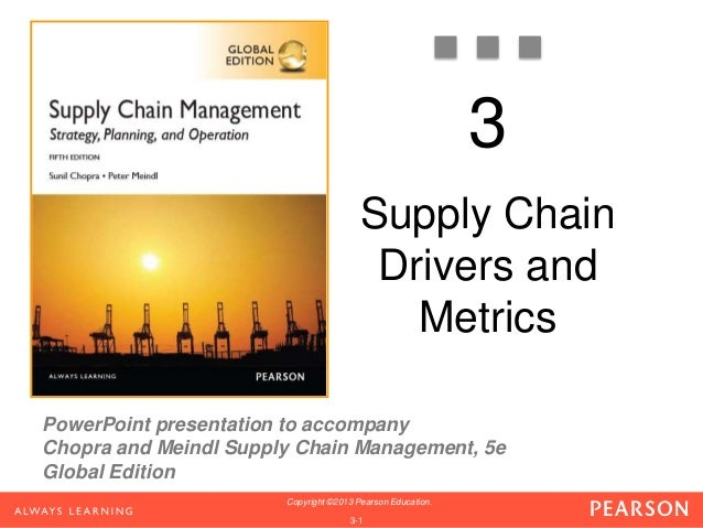 3  PowerPoint presentation to accompany  Chopra and Meindl Supply Chain Management, 5e  Global Edition  Copyright ©2013 Pe...