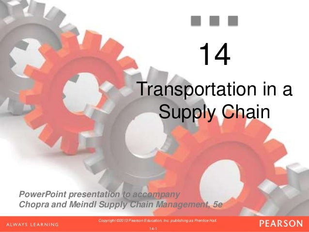 PowerPoint presentation to accompany Chopra and Meindl Supply Chain Management, 5e 1-1 Copyright ©2013 Pearson Education, ...