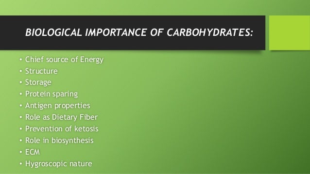 the importance of carbohydrates Understanding carbohydrates how much and what type of carbohydrate foods are important for managing diabetes the balance between how much insulin is in your body and the carbohydrate you eat makes a difference in your blood glucose levels.