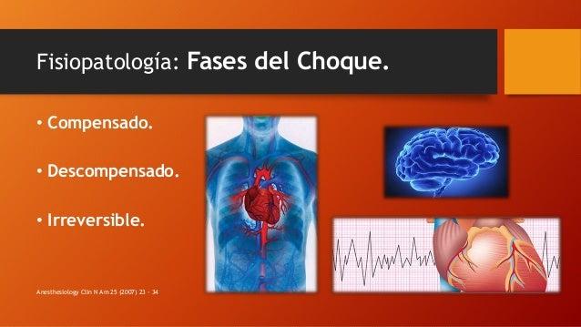 Fisiopatología: Fases del Choque. • Compensado. • Descompensado. • Irreversible. Anesthesiology Clin N Am 25 (2007) 23 - 34