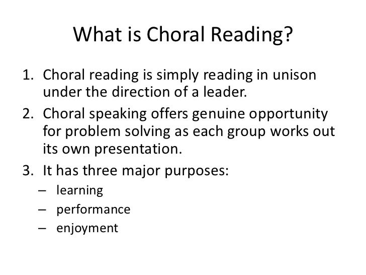 choral speaking text