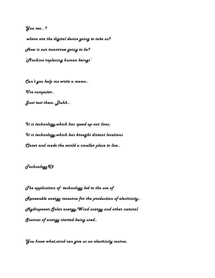 choral speaking script about nature