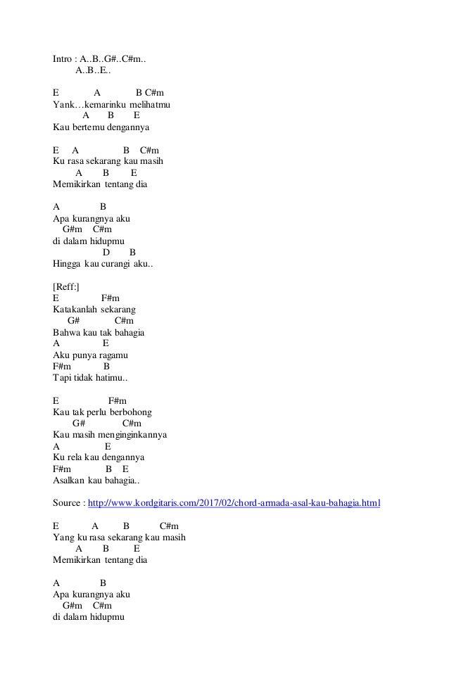 Image Result For Lirik Chord Armada
