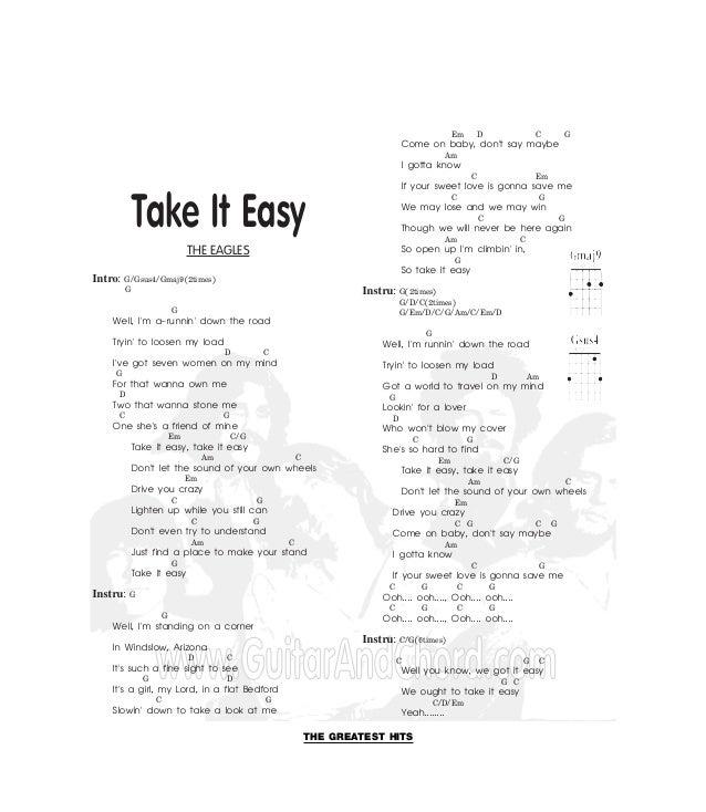 Funky Take It Easy Eagles Chords Ensign - Basic Guitar Chords For ...