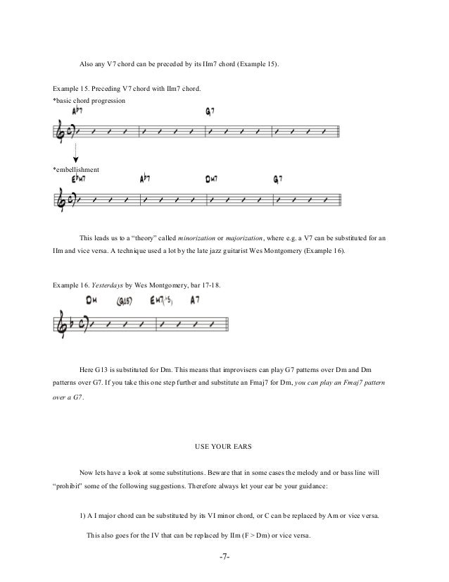 -10- HARMONIZED BASS LINES A standard harmonized bass line (also known from BiaB) that can be used when a dominant 7th cho...