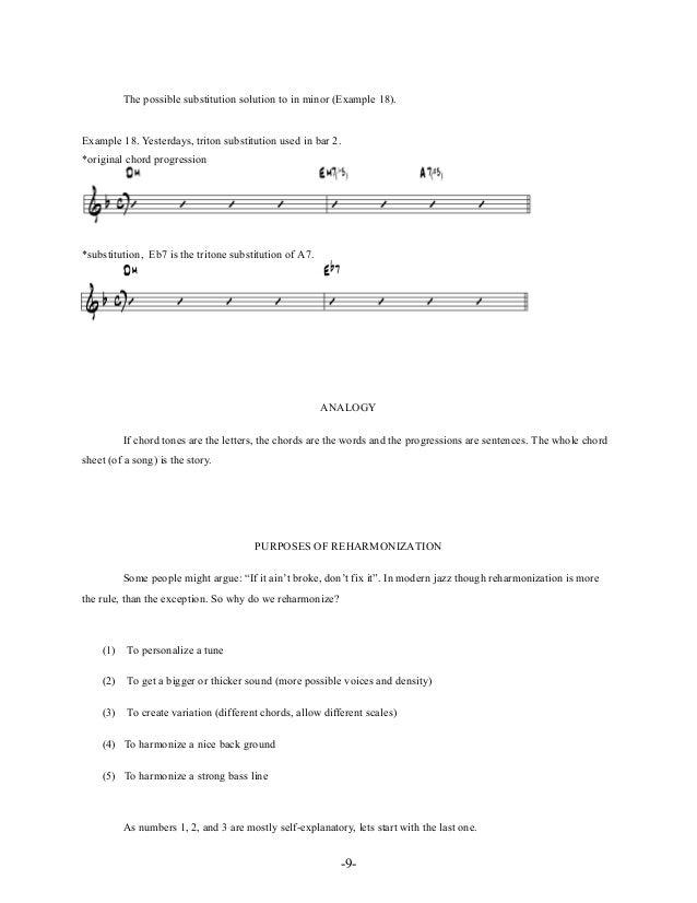 -12- Example 22. Harmonized with chromatic descending background melody. *original *new harmonization by utilizing the chr...