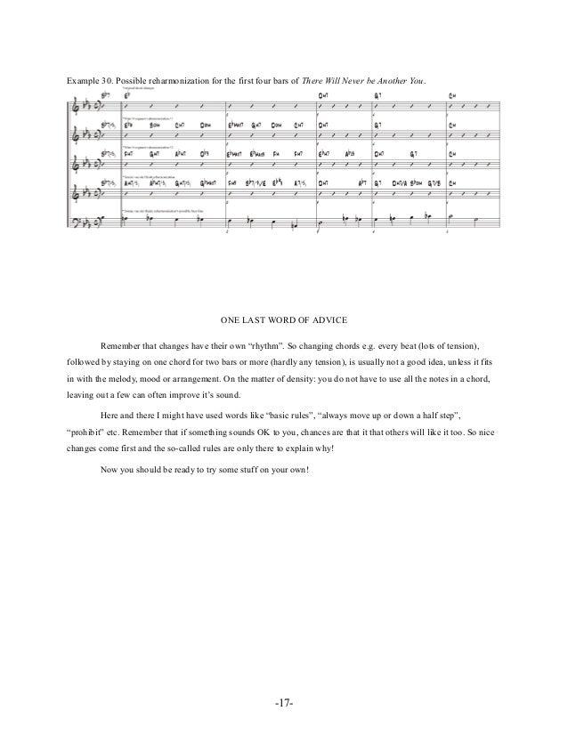 Chord progressions and substitutions jazz reharmonization_-_Tonnie Van Der Heide