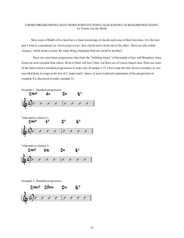 Chord progressions and substitutions jazz reharmonization_-_Tonnie Va…