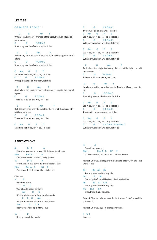 Chords Lagu