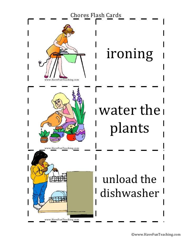 Chores flash-cards