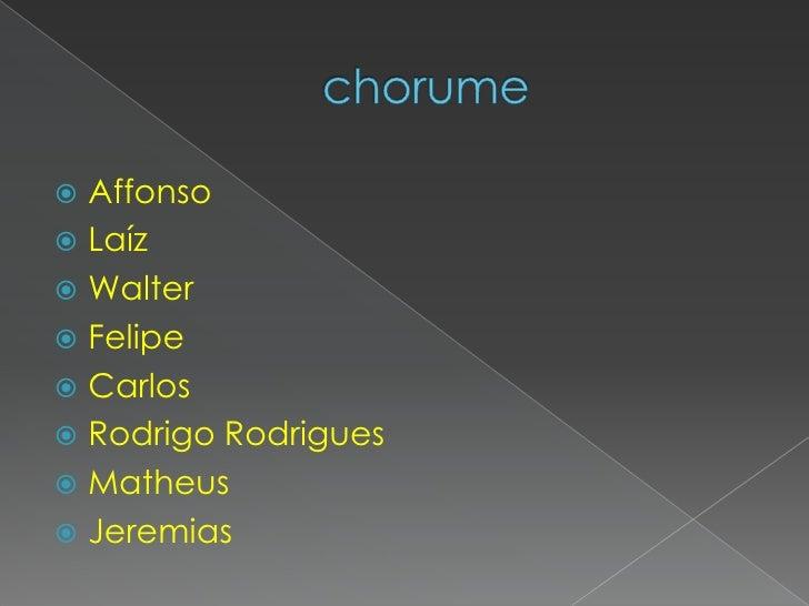 chorume<br />Affonso <br />Laíz<br />Walter <br />Felipe <br />Carlos <br />Rodrigo Rodrigues<br />Matheus<br />Jeremias<b...