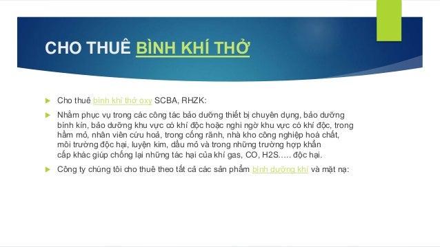 CHO THUÊ BÌNH KHÍ THỞ Slide 3