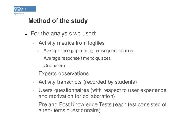 multilevel analysis of collaborative activities based on a mobile lea u2026