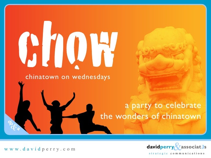 chinatown on wednesdays                                   a party to celebrate                           the wonders of ch...