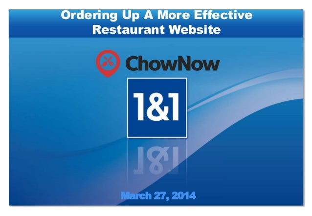 March 27, 2014 Ordering Up A More Effective Restaurant Website