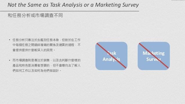 Task   Analysis Marketing   Survey Not  the  Same  as  Task  Analysis  or  a  Marketing  Survey   ...