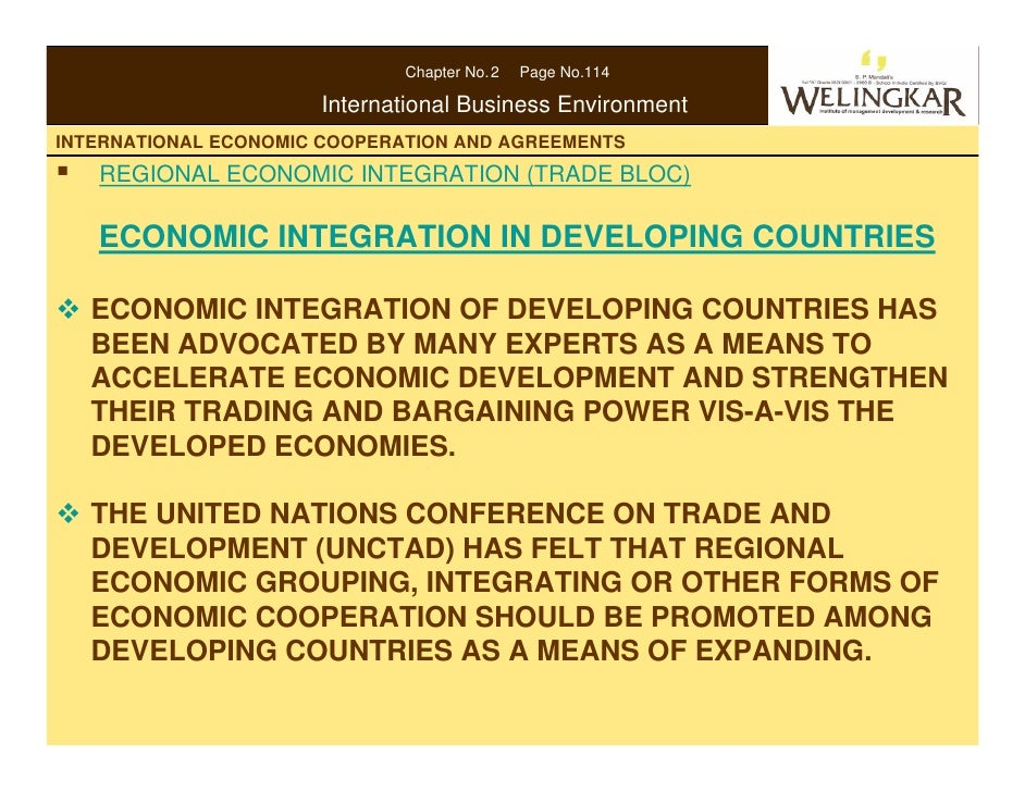 International Economic Cooperation And Agreement
