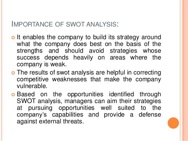 Value Chain And Swot Analysis