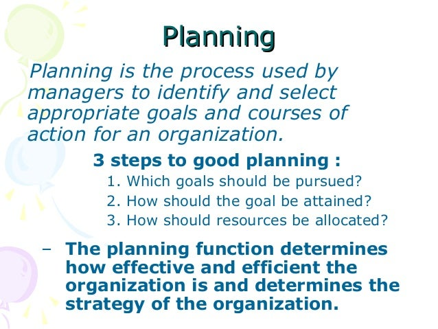 relationships between planning organizing leading and controlling Management we can define management as solving problem creatively problem can be solved creatively via four functions of management: planning, organizing, leading and controlling organization resources should be used in a way to accomplish organizational goal or mission four function of management the.