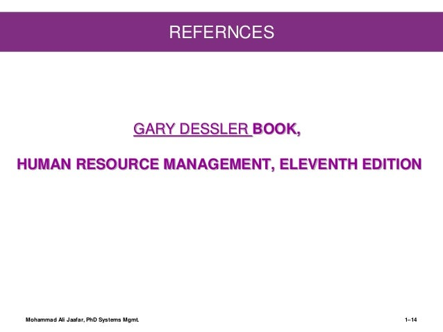 chp 1  introduction to human resource management by