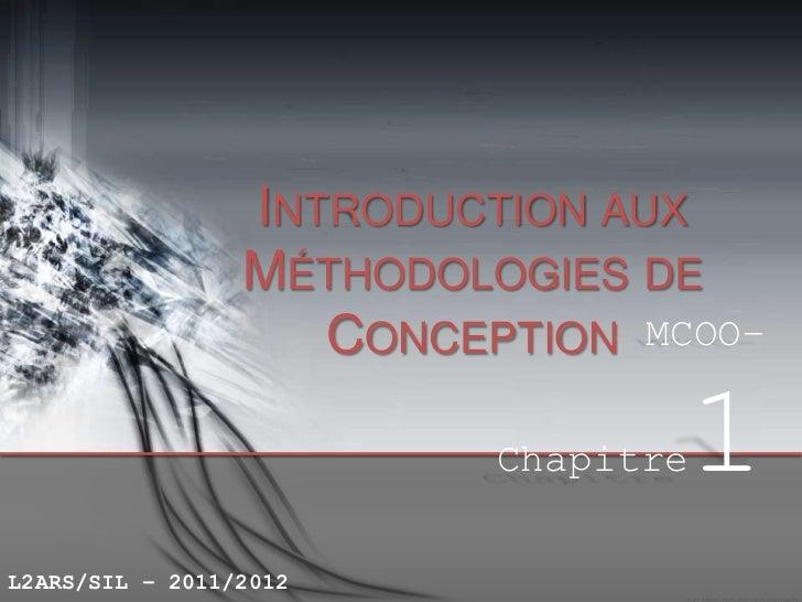 INTRODUCTION AUX                 MÉTHODOLOGIES DE                    CONCEPTION MCOO–                          Chapitre   ...