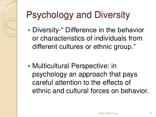 Diverse nature of psychology