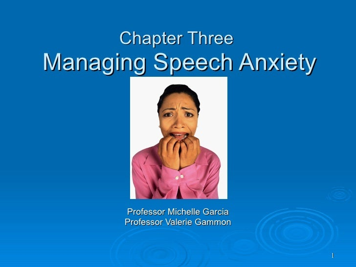 speech anxiety Untreated speech disorders may cause a person to experience a great deal of anxiety over time, this anxiety can trigger anxiety disorders or a phobia of speaking in public .
