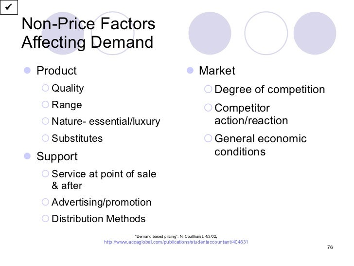 non price factors of demand