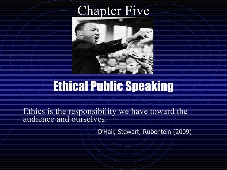 Ethical Public Speaking Paper Essay