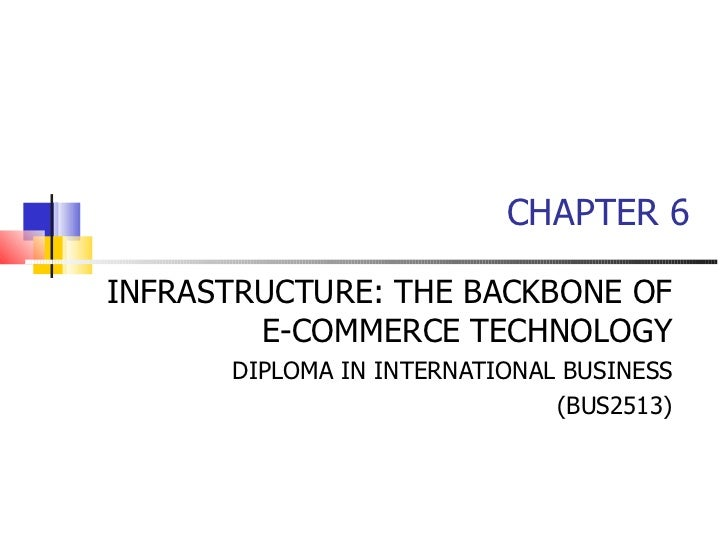 CHAPTER 6 INFRASTRUCTURE: THE BACKBONE OF E-COMMERCE TECHNOLOGY DIPLOMA IN INTERNATIONAL BUSINESS (BUS2513)