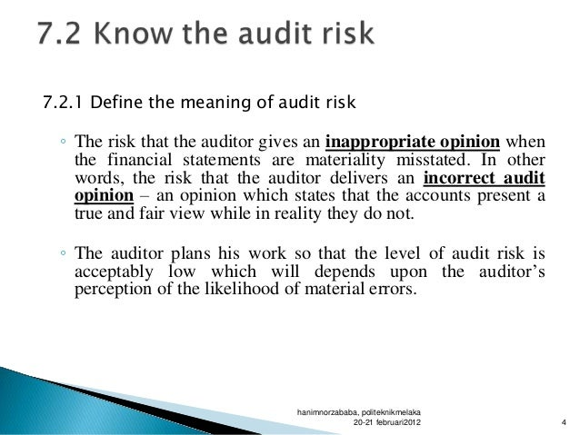 accounts receivable and acceptable audit risk The internal audit review of the accounts receivable system has been carried out in accordance with the internal audit plan for 2013/14 the sundry debtors function was part of the council until it was outsourced to mouchel in december 2010.