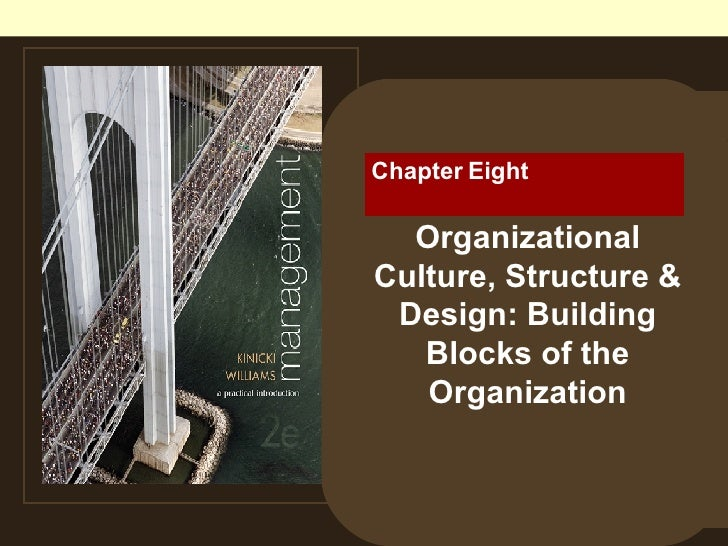 Chapter Eight  Organizational Culture, Structure & Design: Building Blocks of the Organization