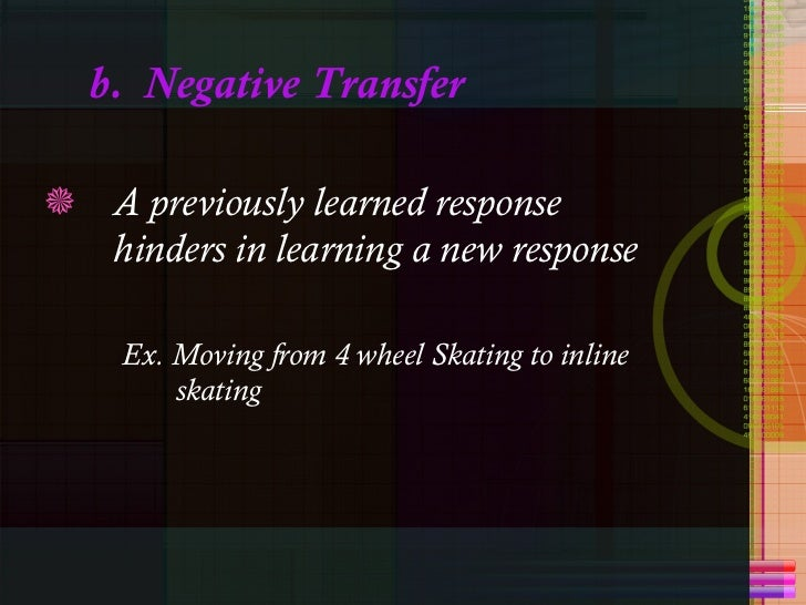 negative transfer Abstract—negative transfer or interference is one of the difficulties in the course of second language learning for its existence in different linguistic levels.