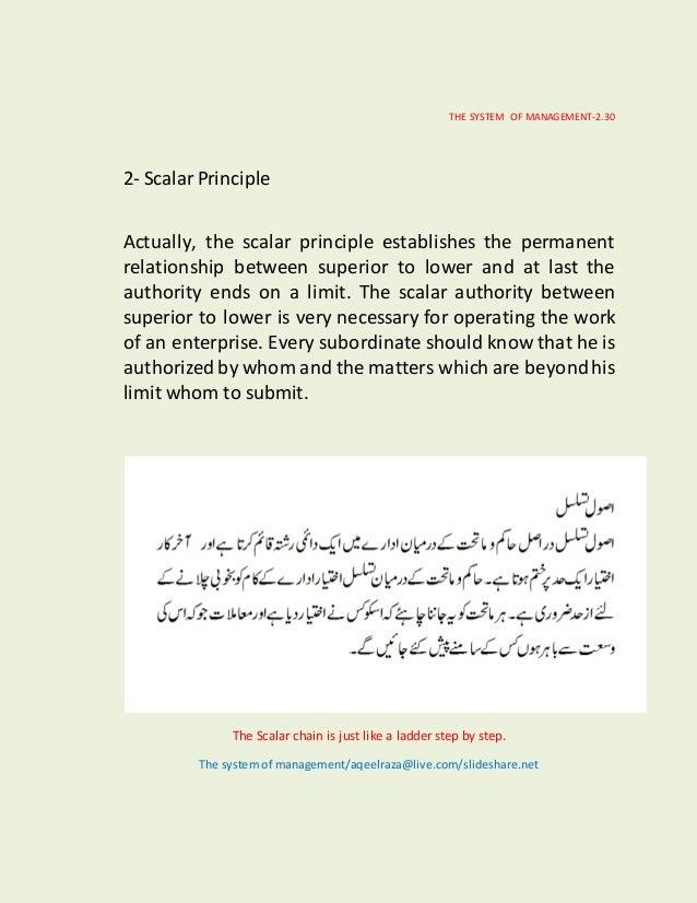 the scalar principle