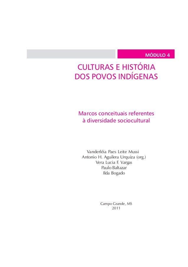 CULTURAS E HISTÓRIA DOS POVOS INDÍGENAS • Módulo IV   1                                               MÓDULO 4 CULTURAS E ...