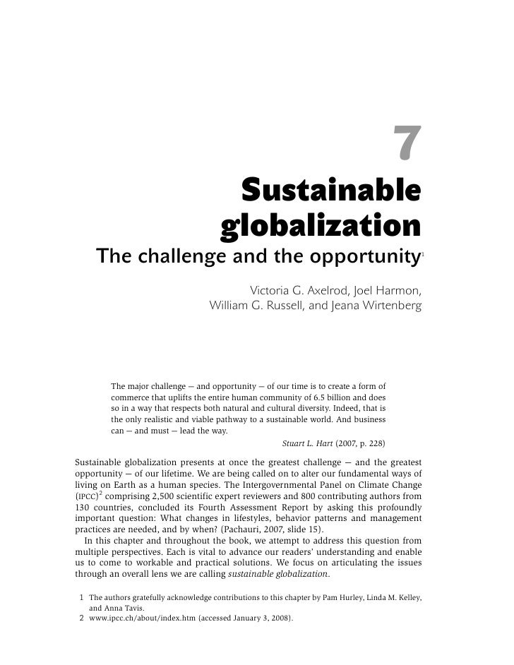 7                                           Sustainable                                          globalization      The ch...