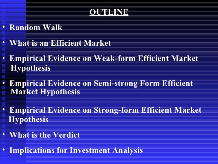 empirical evidence of weak form stock Weak form efficiency of the nigerian stock market: further evidence empirical evidence on weak form of the weak-form efficiency in african stock.