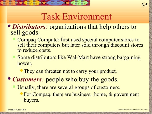 task environment walmart (main article: walmart's hrm: training, performance management) in this area, walmart uses needs analysis to determine how jobs fit employees, and how these jobs fit the business.