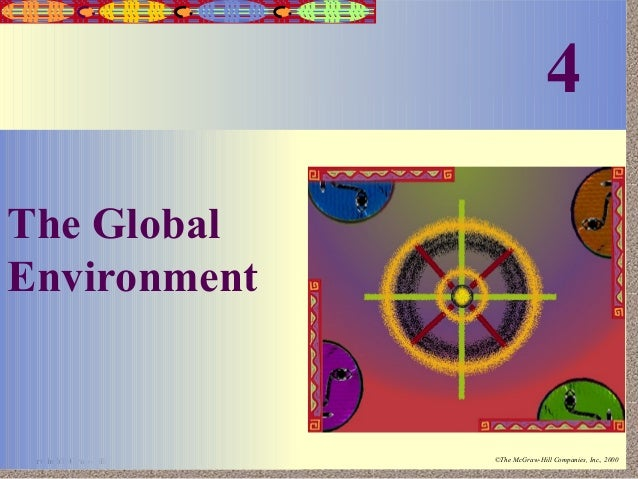 4  4-1  The Global Environment  Irwin/McGraw-Hill  ©The McGraw-Hill Companies, Inc., 2000