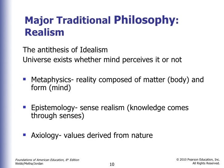 application of metaphysics in education