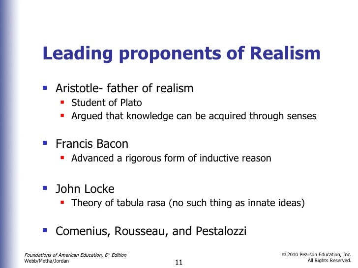 realism in education pdf