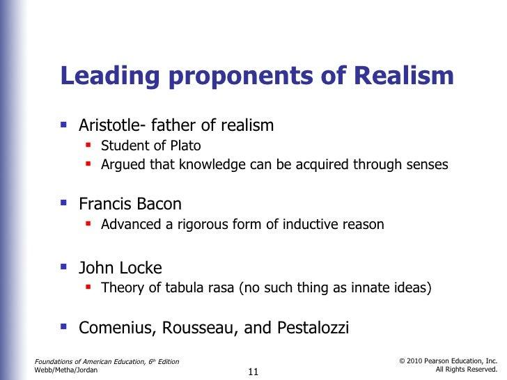 realism in education pdf