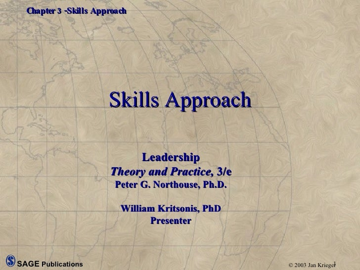 Skills Approach Leadership Theory and Practice,  3/e Peter G. Northouse, Ph.D. William Kritsonis, PhD Presenter
