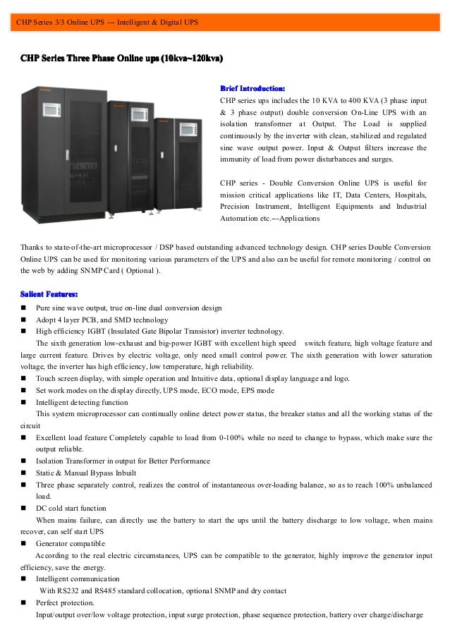 Baykee CHP series industrial low frequency ups 3 phase